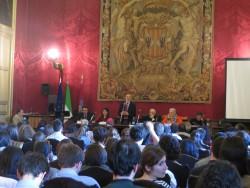 Catania. Aula magna del Rettorato. Sessione inaugurale del 64°congresso della Fuci.