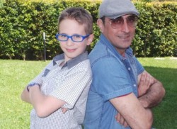 Da sin: il piccolo Mario Pulvirenti e Giuseppe Castiglia