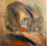 "S.Grasso, ""Edicola votiva"", olio su tela, 70x70,  anno 2015"