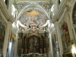 L'interno della chiesa di San Camillo