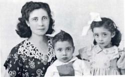 Francesca e i due figli