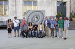 Gli artisti, i professori dell'Accademia, il sindaco Caputo e l'Assessore Di Mauro