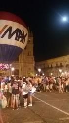 La mongolfiera in Piazza Duomo