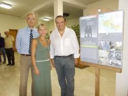Da sin: Fulvio Torrisi,Marilena Donzuso, assessore alla Cultura e il dott. Giuseppe Mazzaglia