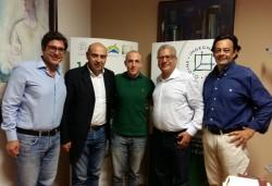 Da sin: Giuseppe Marano, Carmelo Grasso, Alessio Anfuso, Santi Cascone e Mauro Scaccianoce