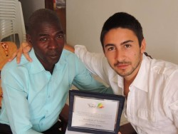Ibrahima Gomis, sindaco di Tanaf e Raoul Vecchio, presidente organizzazione no-profit Balouo Salo