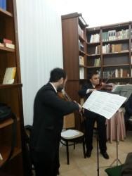 Il duo di violini Davide Fidone e Orazio Spoto
