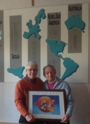 Da sin. Angelo Lavore e l'avv. Domenico Azzia, presidente di Sicilia Mondo