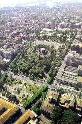 Catania: villa Bellini vista dall'alto