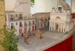 Un presepe artistico ambientato nella piazza S. Michele di Acireale