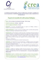locandina pubblicitaria Esperto in tecniche di coltivazione biologica