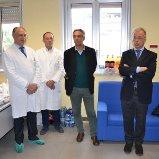 I dott. Tumino, Scollo, Pellicanò e Giuffrida al saluto in Neanatologia