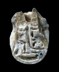 Il sigillo egizio rinvenuto in Galilea. Foto Clara Amit (IAA)