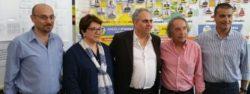 Da sin: Gli assessori D'Urso, Rosano, il sindaco D'Anna, Vitale e Mangano