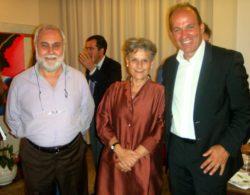 Il nostro collaboratore Nino De Maria insieme con Simonetta Agnello ed il presentatore Salvo Ficcherà