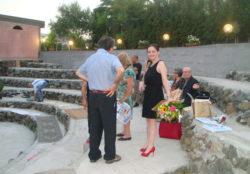 Maria Pia Risa con alcuni ospiti, prima della presentazione