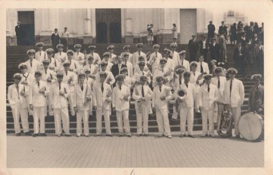 La formazione degli anni '50 in una foto d'epoca