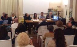 """La sala conferenze del """"Costarelli"""" durante la presentazione del libro di Maria Pia Risa"""