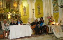 Un momento della presentazione nel santuario di Vena