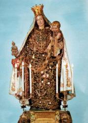 L'immagine dalla Madonna della Catena, che si venera nella Chiesa Madre di Acicatena
