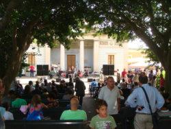 Il giorno della riapertura del parco delle Terme