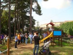 L'area giochi per bambini