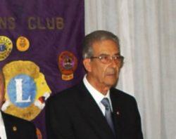 Il presidente del Lions Giarre-Riposto dott. Sebastiano Russo