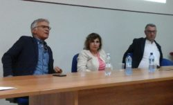 Da sx: dott. Antonino Pittera, dott.ssa Venera Guarrera e l'ostetrico dott. Salvatore Bonanno