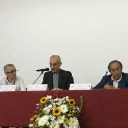Da sx: Francesco Zanotti, presidente della  Fisc, mons. Antonino Raspanti e Giuseppe Vecchio