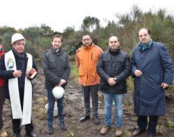 Da sx: p. Orazio Caruso,il sindaco Carlo Caputo,Roberto Di Giunta, il vice sindaco Giuseppe Zitelli e Gianni De Luca