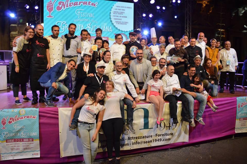 """Nivarata 2017 – 5 / L'acese Clemente Centamore (pasticceria Costarelli) si aggiudica due primi premi al Festival della granita"""""""