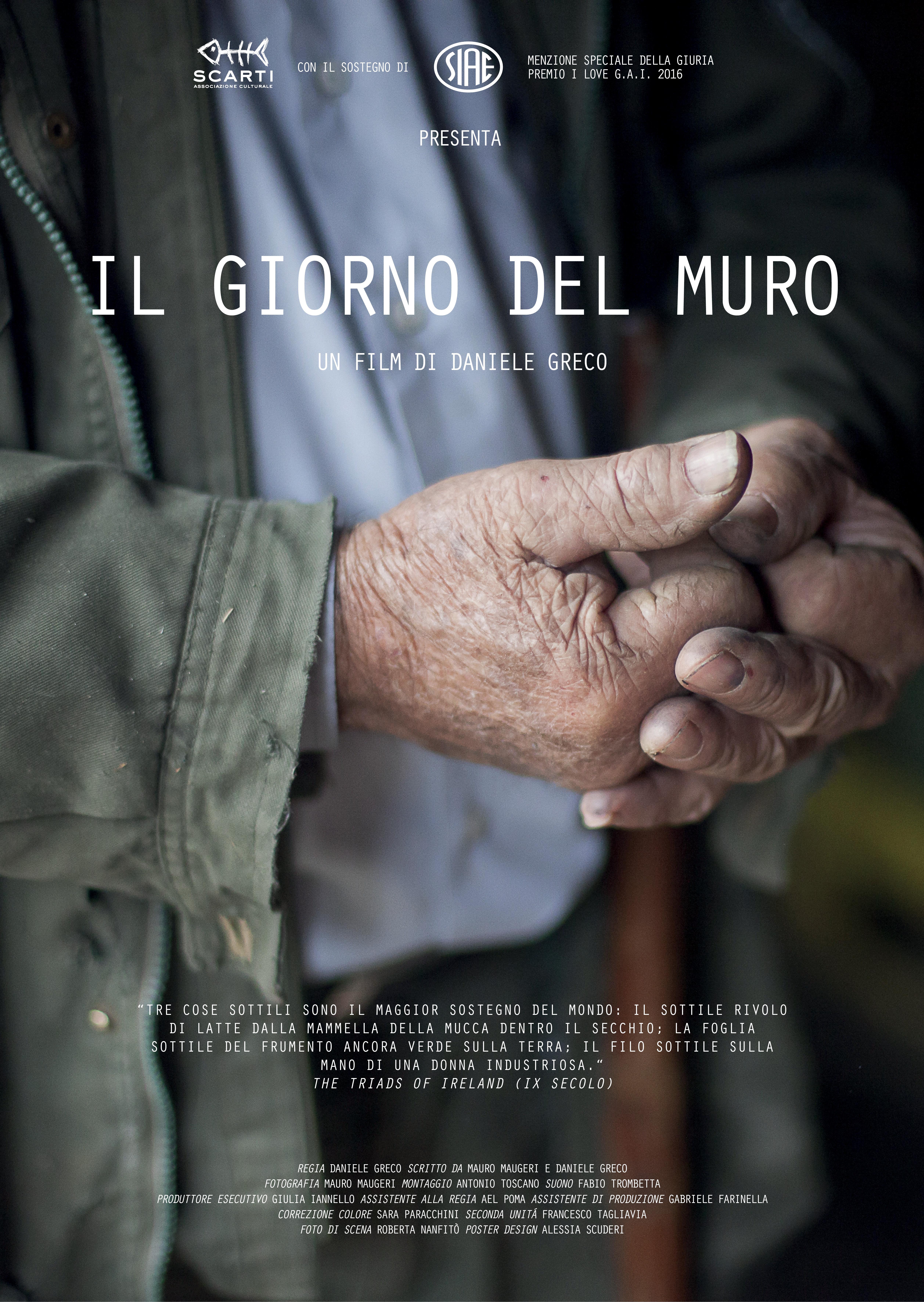"""Cinema / Documentario siciliano vince festival francese Traces de Vies, Prix de la Création a """"Il giorno del muro"""" di Daniele Greco"""