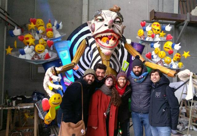 """Carnevale di Viareggio / Il """"Sig. Ego"""" dell'acese Matteo Raciti vince il concorso per le maschere isolate: """"Un sogno da condividere"""""""