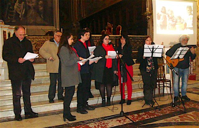 """Acireale / Cent'anni di solidarietà nei """"Respiri migranti"""" di Rita Caramma. La rappresentazione lo scorso 16 marzo nella basilica di San Sebastiano"""