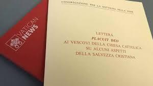 La lettera / Placuit Deo, per riaffermare il principio fondante della salvezza dell'uomo nella sua integrità