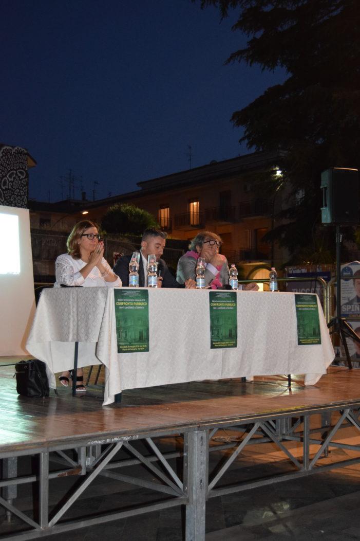 Valverde / Ieri confronto pubblico tra i candidati sindaco Spina e Tuccitto. Assenti gli altri due, Speciale e Danubio
