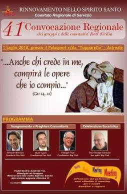 Rinnovamento nello Spirito / Domenica 1 Luglio la Convocazione Regionale ad Acireale