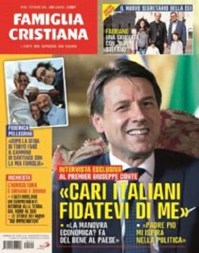 Famiglia Cristiana / Il premier Giuseppe Conte spiega l'azione del governo e la legge di bilancio