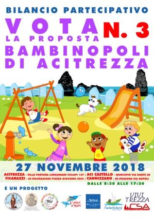 Acicastello / Nel bilancio partecipativo in votazione il 27 novembre il ripristino della Bambinopoli a Villa Fortuna