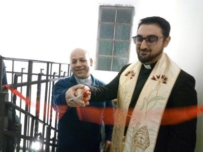 """Acicatena / Inaugurata la  Mensa di San Nicola. Don Panebianco: """"Condivisione familiare per disagiati e soli"""""""