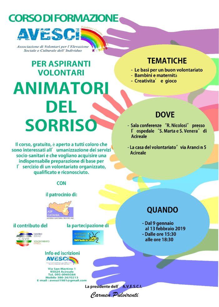 """Acireale / Avesci organizza un corso di formazione per """"animatori del sorriso"""""""