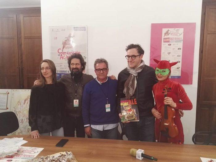 """Carnevale di Acireale – 8 /  Da Lucca gli organizzatori di """"Cartasia"""" ospiti della Fondazione per uno scambio culturale"""