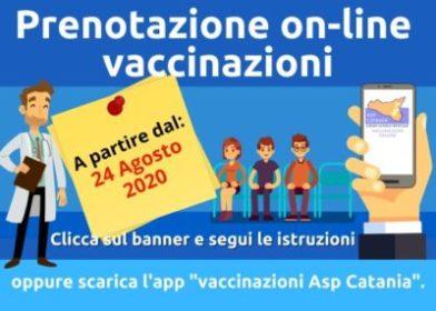 ASP catania servizio on line prenotazioni vaccinazioni