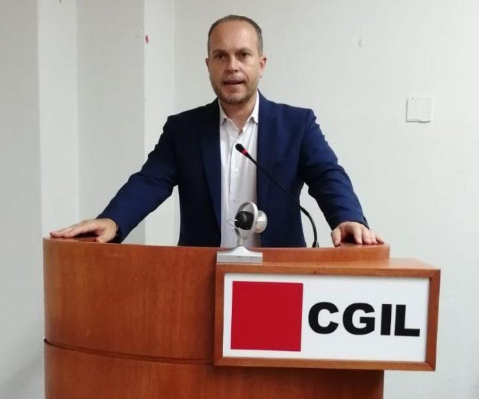 Segretario Alfio Messina a Sigonella