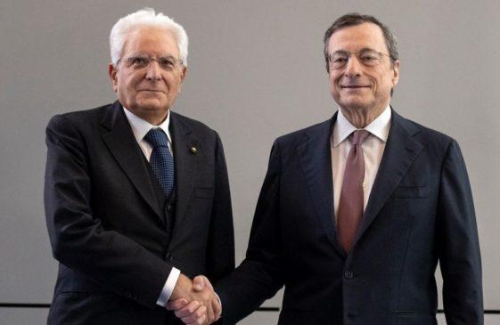 Mario Draghi presidente incaricato da Sergio Mattarella