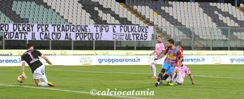 Andrea Russotto nel derby amaro contro il Palermo