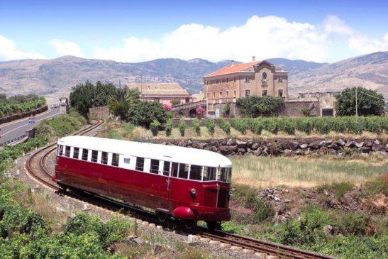 Ferrovia Circumetnea Littorina Wine bus