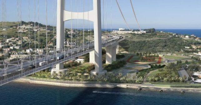 ponte sullo stretto rendering