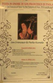 programma festa San Francesco di Paola