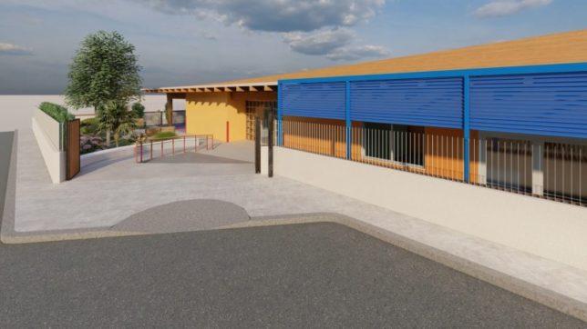 scuola da ricostruire a Linera